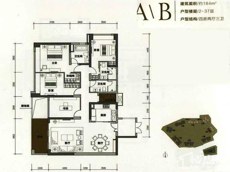 3栋A/B户型(2-37层)【售完】