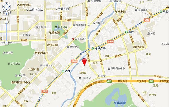 金地龙城中央位置图