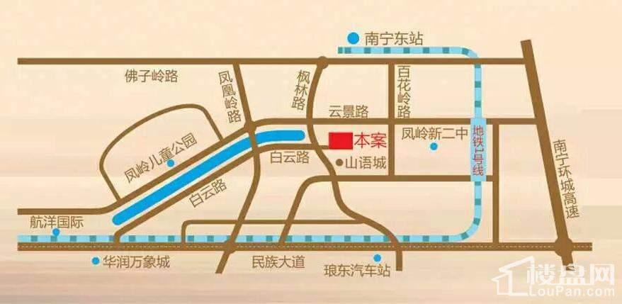 宏桂东盛时代区位图
