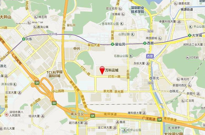 万科云城位置图