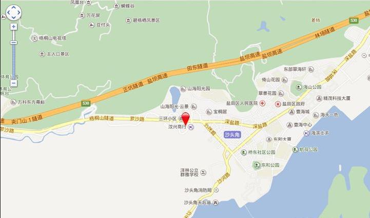 合泰御景翠峰位置图