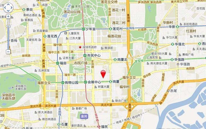 深圳中心·天元位置图