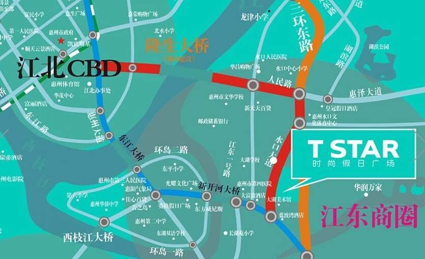 T STAR时尚假日广场位置图