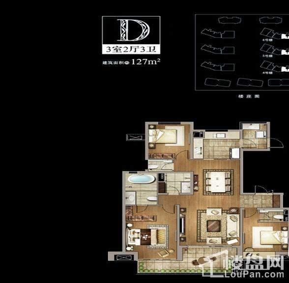 4-6号楼、9号楼D户型