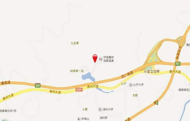 中海汤泉位置图