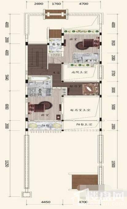 B2户型别墅二层