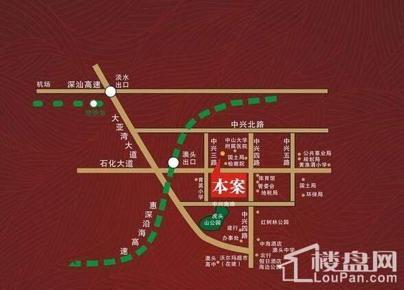 德丰凯旋城 位置图