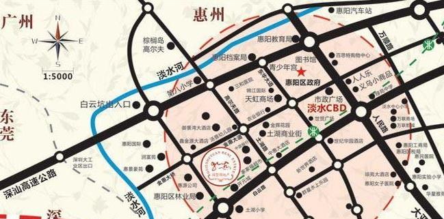 中央国墅园位置图