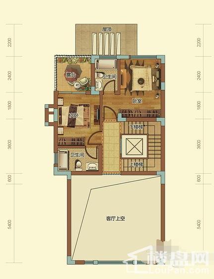 T3-T8栋峰景府邸A户型二层