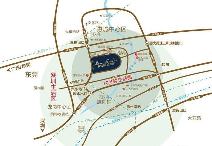 东部现代城位置图