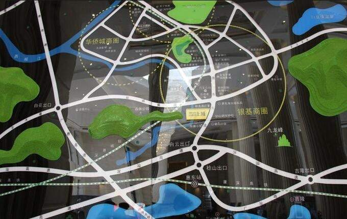 山湖海·上城位置图
