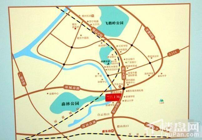 山湖海·上城 位置图