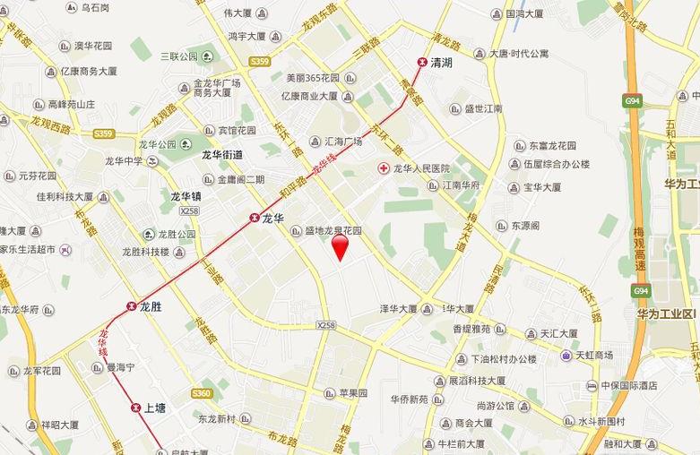 鸿荣源·壹城中心位置图