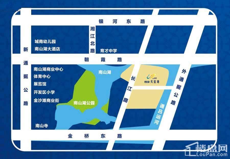 碧桂园天玺湾(通州)位置图
