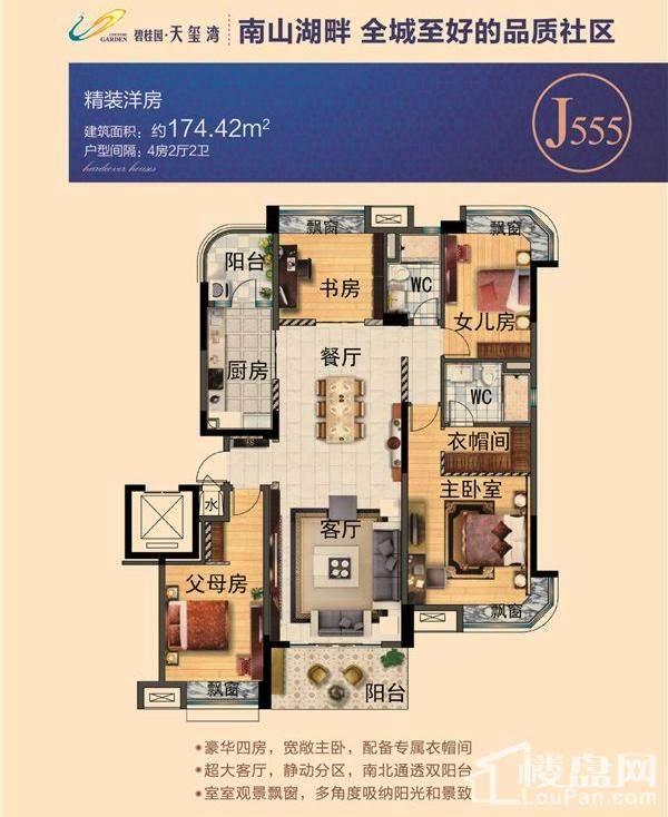 碧桂园天玺湾洋房J555户型