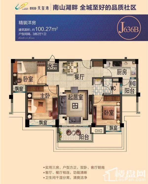 碧桂园天玺湾洋房J636B户型