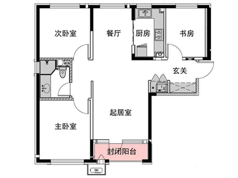 1号楼C户型