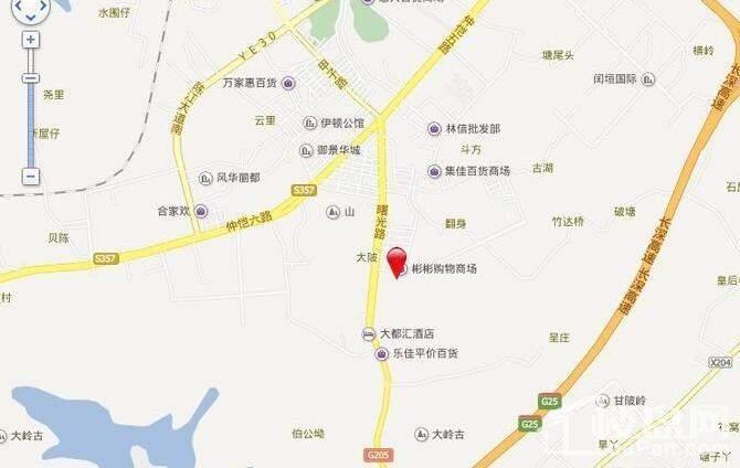 大欣城·世纪花园 位置图