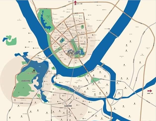 荣灿·惠州中心位置图