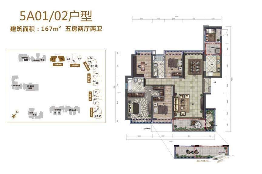 5号楼A01/02户型