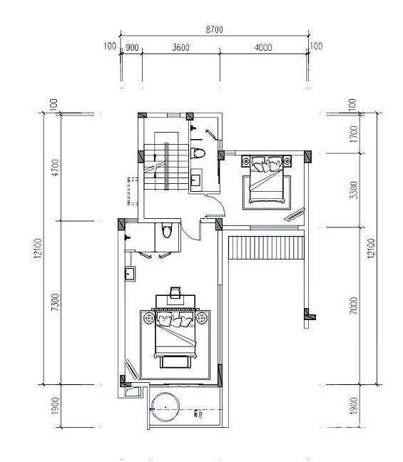 鲁滨逊叠墅S2户型四层