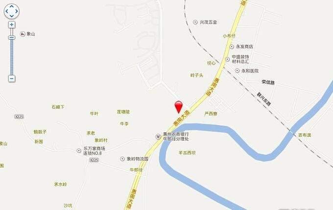 惠阳振业城位置图