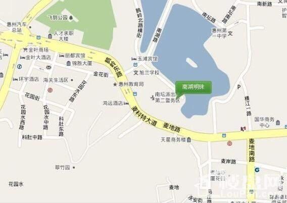 南湖明珠位置图