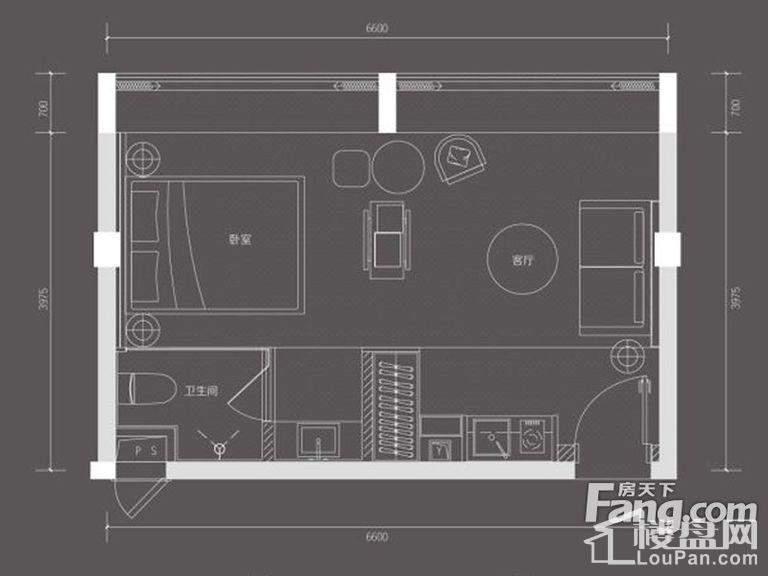 B栋13单元户型图