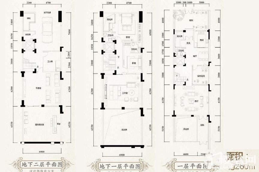 260平别墅户型图