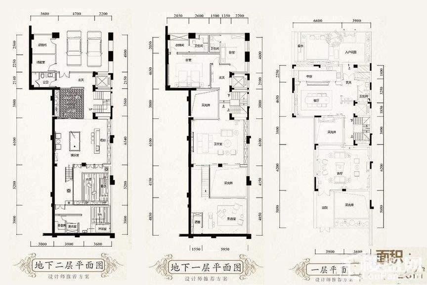 310平别墅户型图