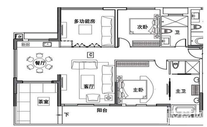 4栋高层 C户型