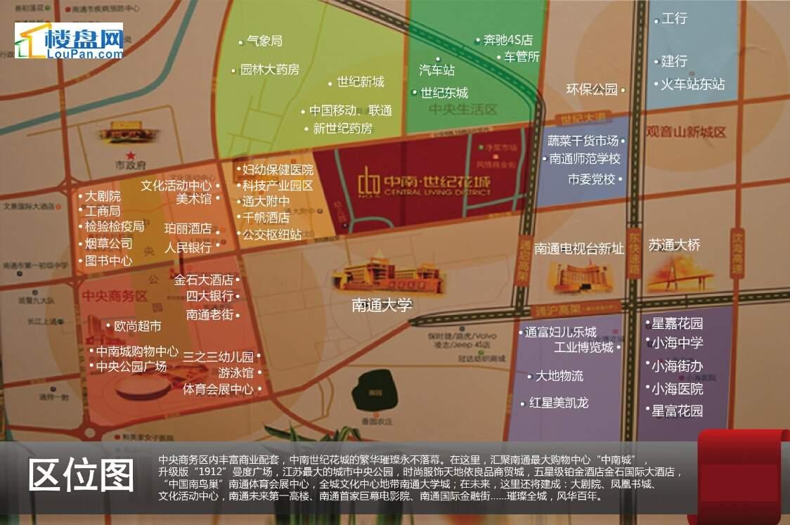 中南世纪花城配套图