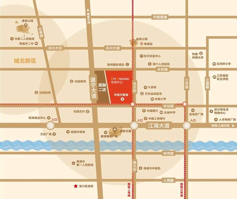 华润中心·悦锦湾位置图