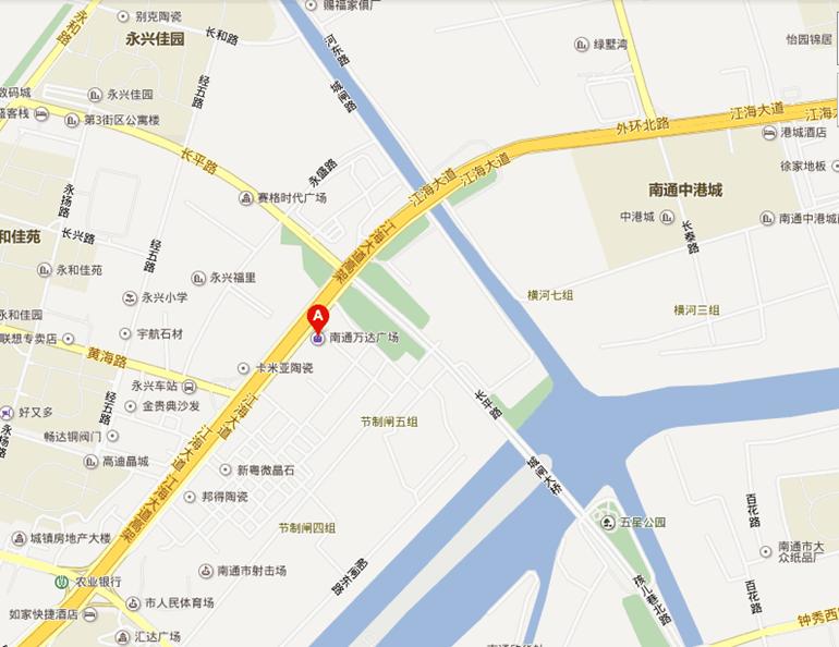 南通万达广场位置图