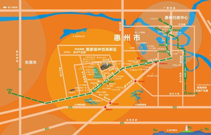 鑫月广场·欢乐海湾位置图