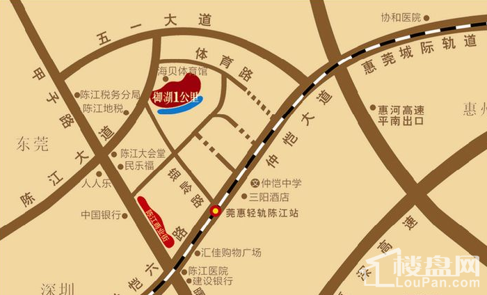 鑫月城 位置图