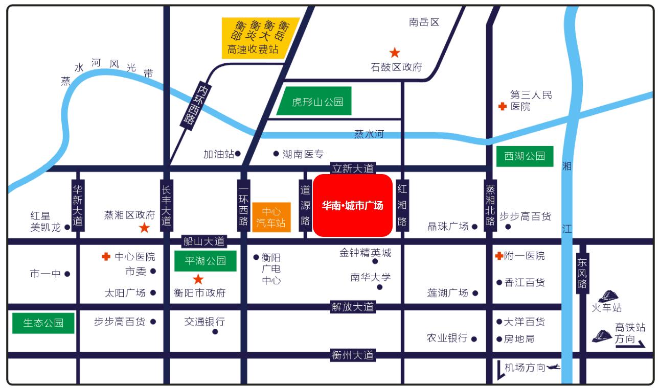 华南·城市广场位置图