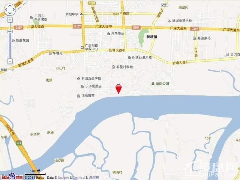 广州新塘新世界花园位置图