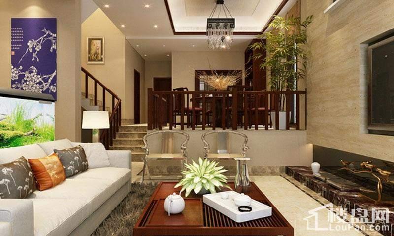 复式简欧型客厅