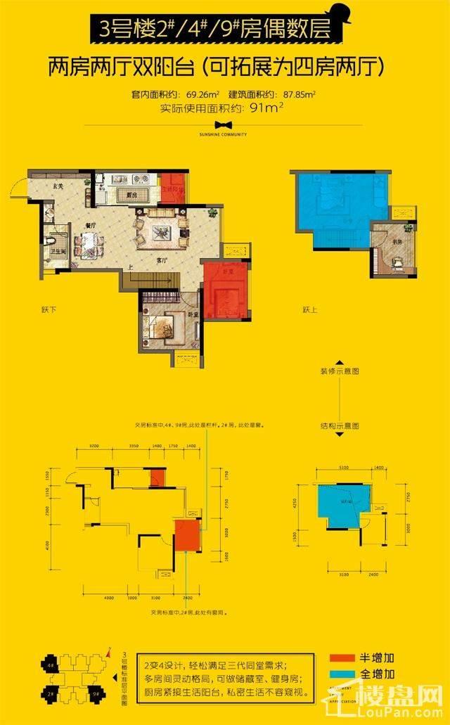3号楼在售户型图