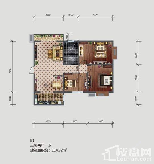 林河春天户型图