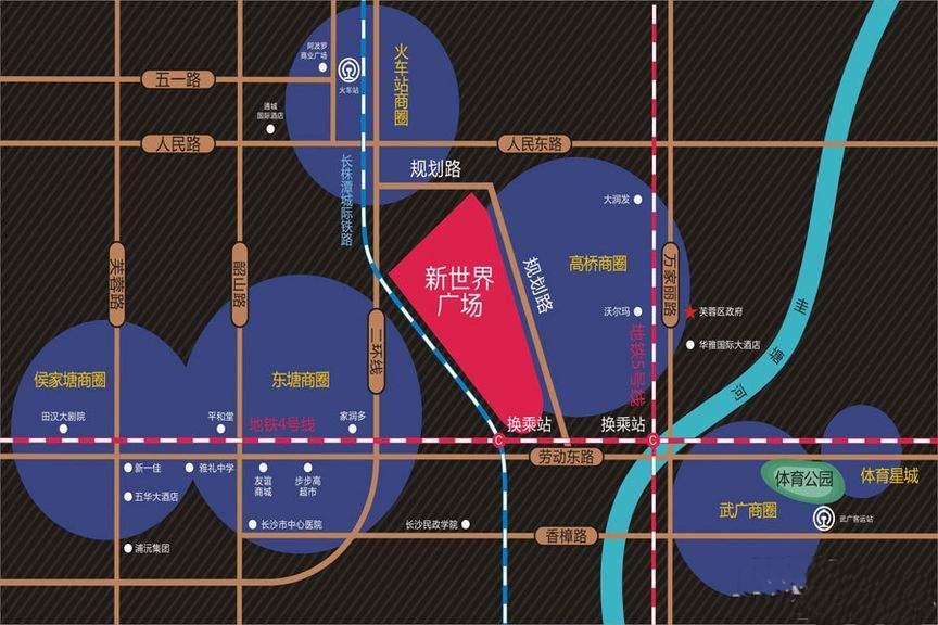 新世界广场位置图