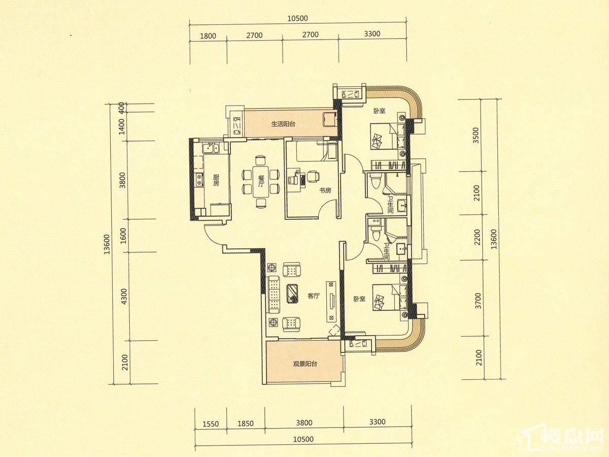 明昇壹城 E-4户型