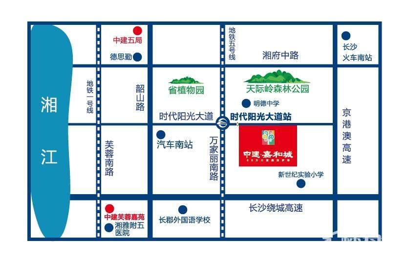 中建嘉和城区位交通图