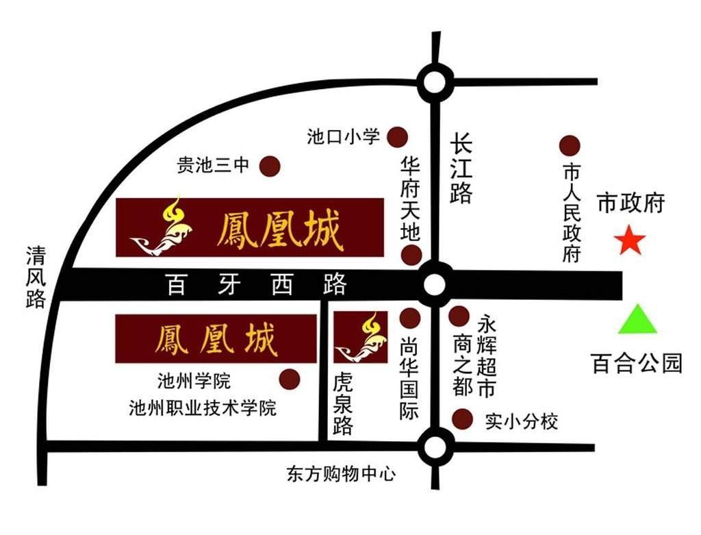 龙登·凤凰城位置图