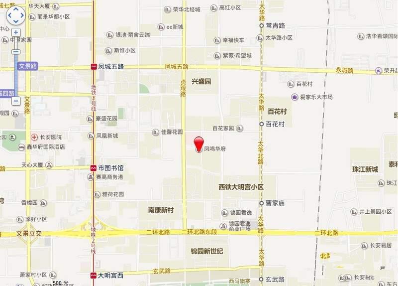 凤鸣华府位置图