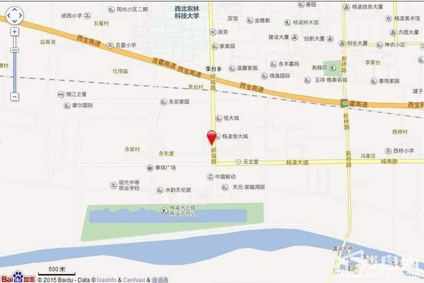 杨凌恒大城 位置图