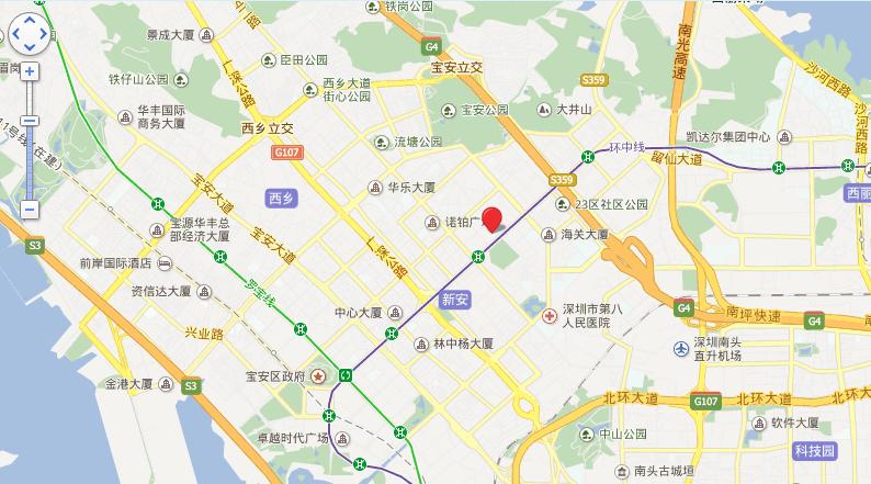 中洲·中央公寓E-CLASS位置图