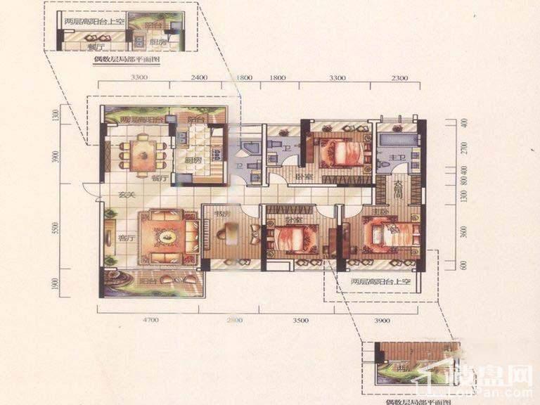 二期9-C03 9-D01 11-A01户型