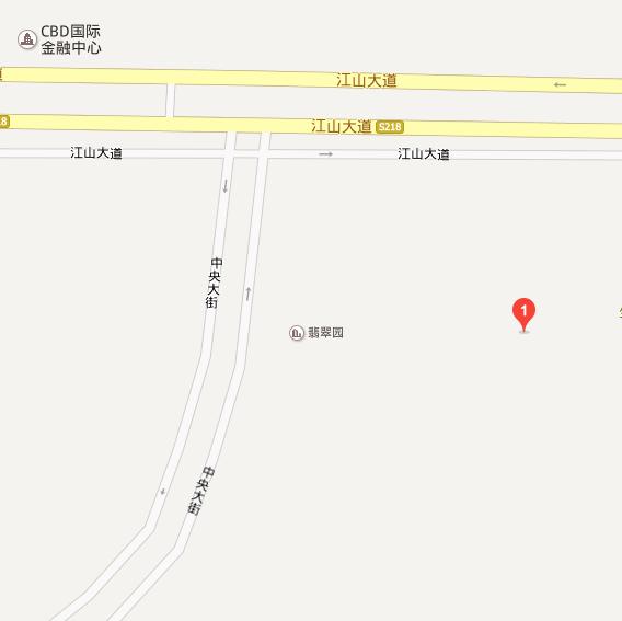 中央商务区翡翠园三期位置图